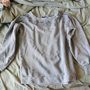 Embroidered sweatshirt hoodie